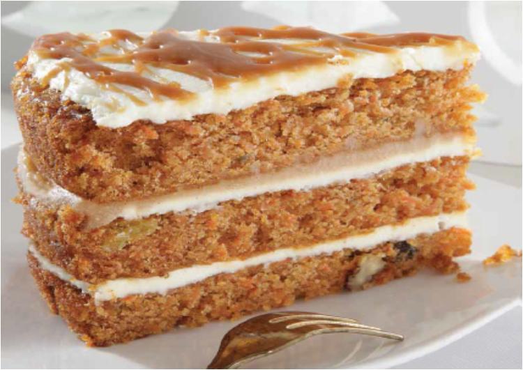 Caramel Carrot Cake 1640g (12p)