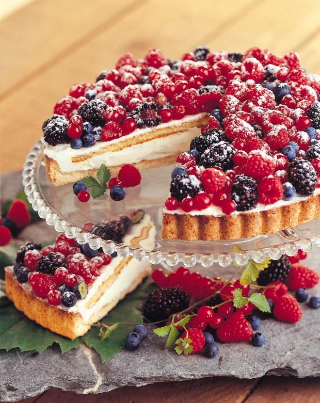 tarta cu fructe de padure patiline